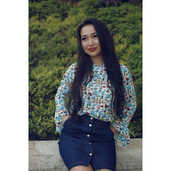 Джинсовая юбка на кнопках Azali Brand