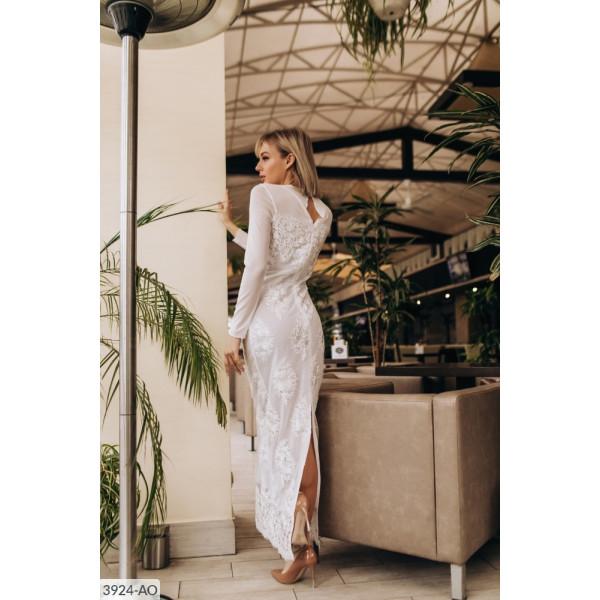 Платье белое кружево